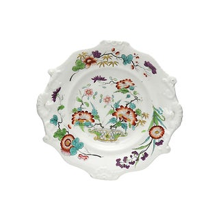 Antique Hand-Painted Victorian Dish