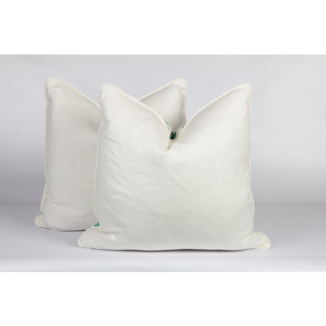 Mint Linen Guinea Pillows, a Pair For Sale - Image 4 of 5