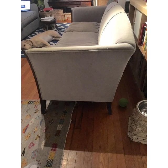 Antique Gray Velvet Sofa - Image 5 of 5