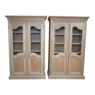 Bloomingdale's Oak Country French Bookcases - A Pair For Sale
