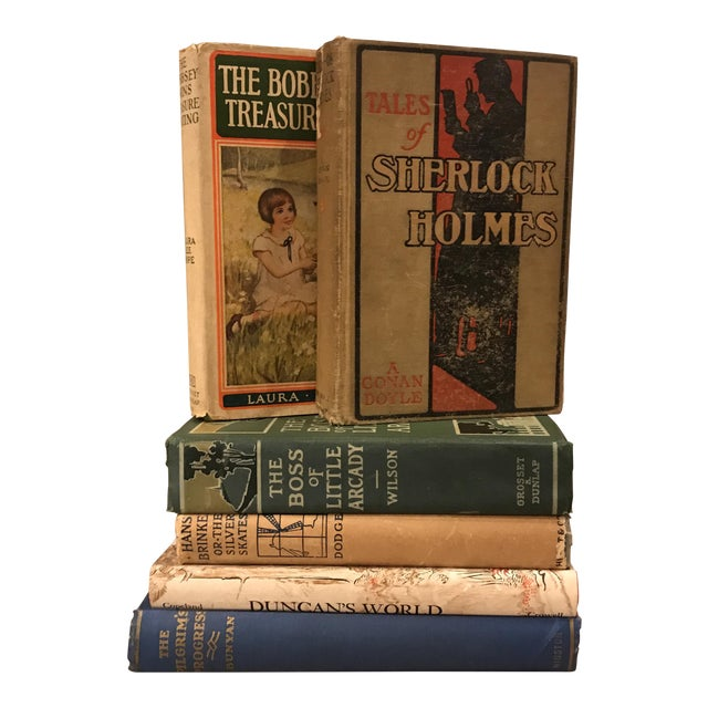 Decorative Assorted Books - Set of 6 For Sale
