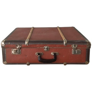 Vintage Steamer Trunk-Style Suitcase