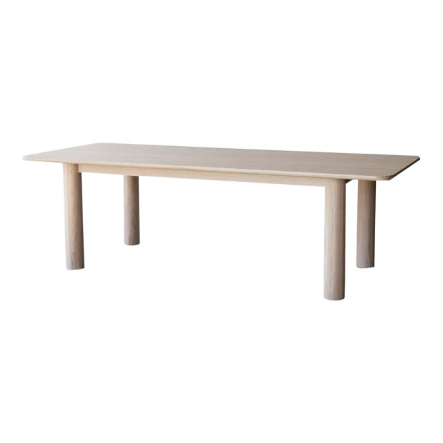 Arc Dining Table Nude Minimalist Dining Table In Wood Chairish