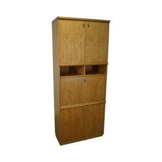 Thomasville Blond Bookcase Cabinet For Sale