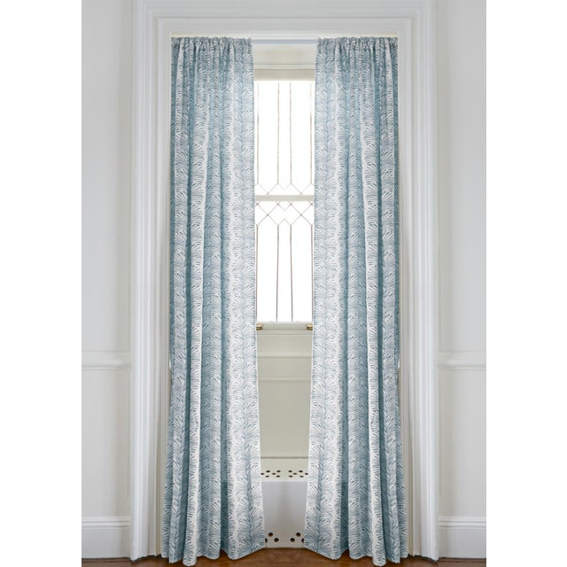 """Not Yet Made - Made To Order Pepper Emma Sky 50"""" x 108"""" Curtains - 2 Panels For Sale - Image 5 of 5"""