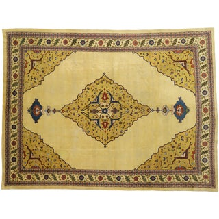 19th Century Indian Agra Rug With Louis XIV Style - 10′2″ × 13′7″ For Sale