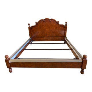 California King Size Henredon French Wood Bed Frame For Sale