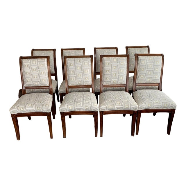 Brown Dining Chairs- Set of 8 For Sale