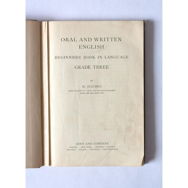 """1920s """"Oral and Written English"""" School Book For Sale - Image 4 of 9"""