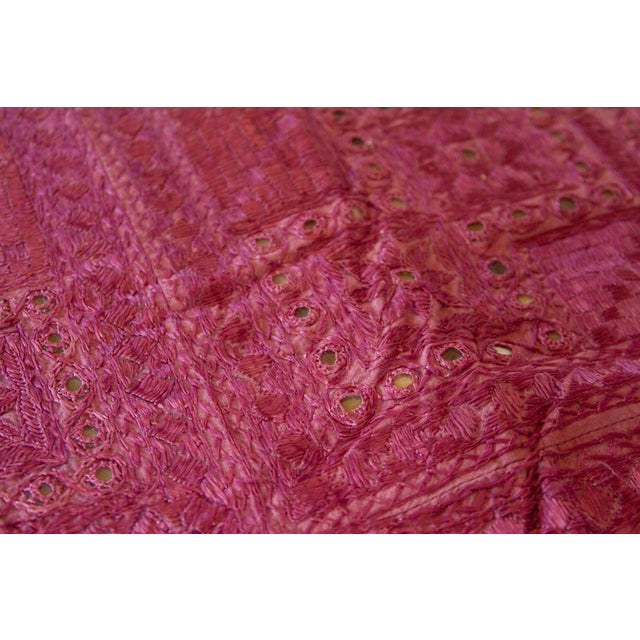 1990s Lilac Sheesha Coverlet For Sale - Image 5 of 8