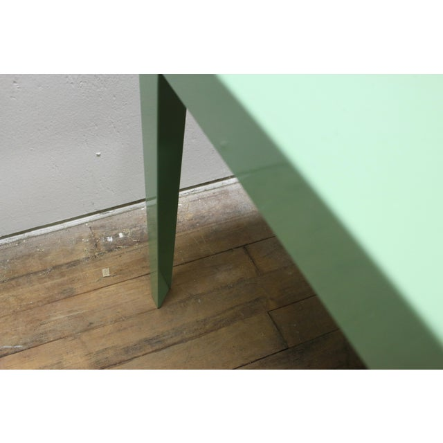 1950s Mint Green Mid-Century Powder Coated Steel Coffee Table For Sale - Image 12 of 13