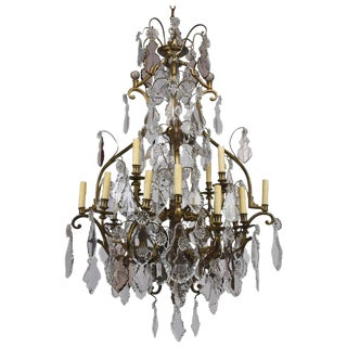 19th Century Baccarat Crystal Chandelier