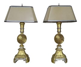 Image of Silver Leaf Table Lamps