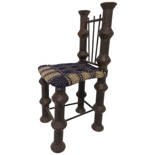 Early 20th Century Folk Art Industrial Era Spool Chair For Sale