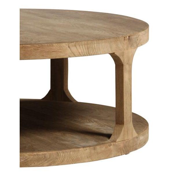 Reclaimed Elm Wood Coffee Table - Image 3 of 3