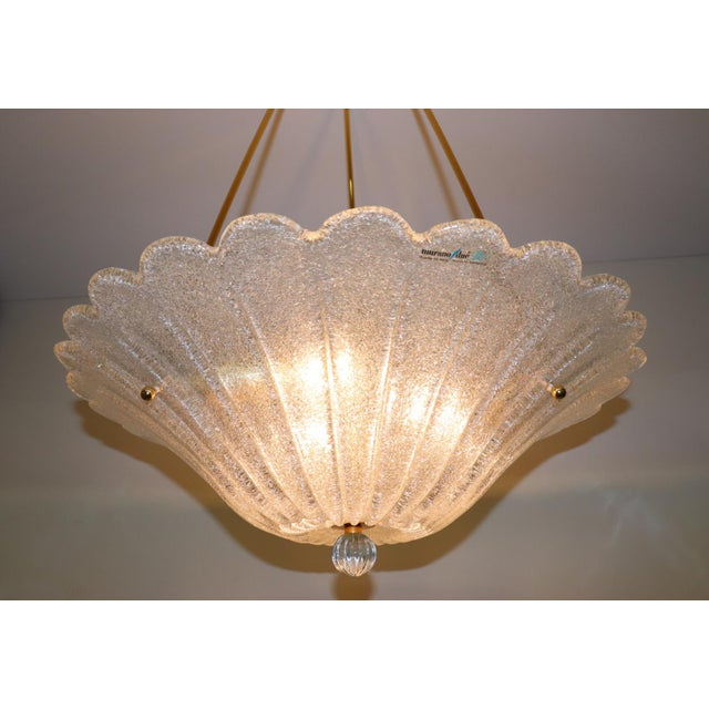 Vintage Mid-Century Modern Murano Glass Pendant Lamp For Sale In New York - Image 6 of 13