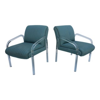 Mid-Century Lion in Frost Lucite Accent Chairs - A Pair For Sale