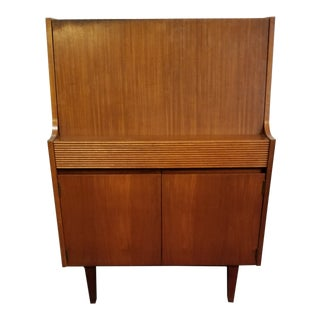 Mid Century Modern Drop Front Desk For Sale