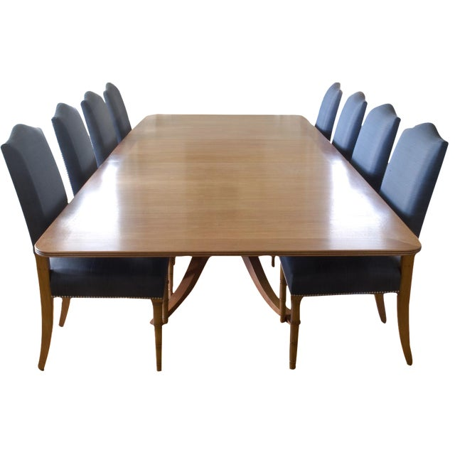 9-Piece Holly Hunt-Style Dining Set - Image 1 of 11