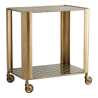 Celerie Kemble for Arteriors Tinsley Bar Cart For Sale
