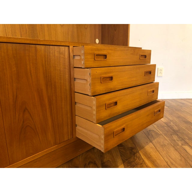 Poul Hundevad Poul Hundevad Teak Sideboard With Display Hutch For Sale - Image 4 of 10