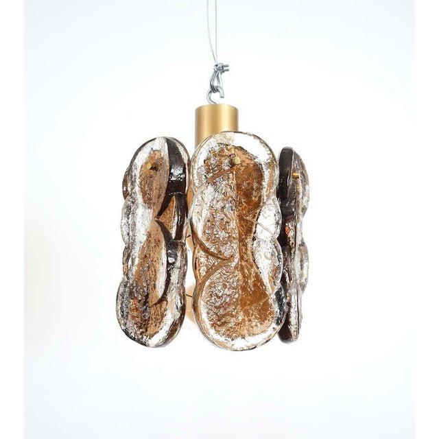 Mid-Century Modern Pair of Kalmar Swirl Glass Flush Mounts For Sale - Image 3 of 5