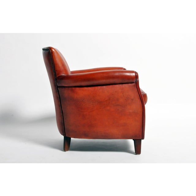 French Leather Armchairs - a Pair For Sale In Chicago - Image 6 of 13