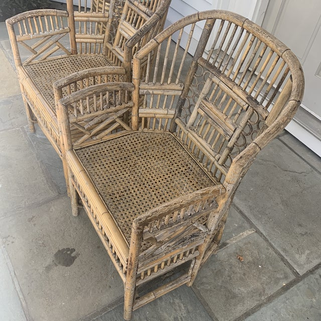 Pair of Vintage Bamboo Brighton Chairs For Sale - Image 9 of 11