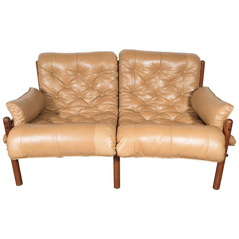 Inca Safari Lounge Sofa In Butterscotch Leather By Arne Norell   Image 9 Of  9
