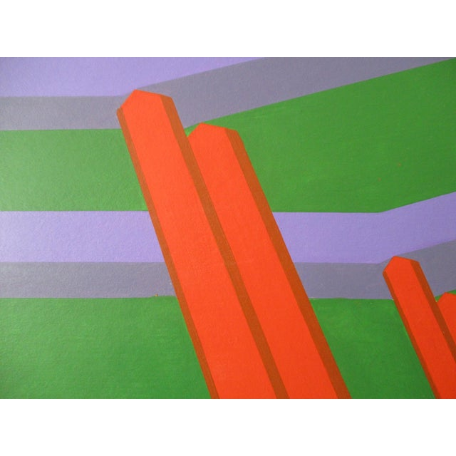 Abstract Abstract Geometric Acrylic Painting For Sale - Image 3 of 7
