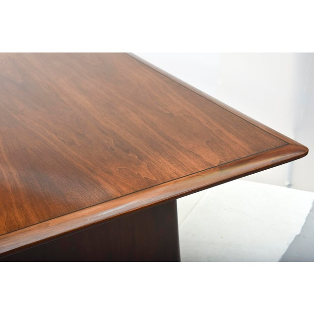 Drawing/Sketching Materials Fine American Modern Dark Walnut Executive Desk, Custom Made by Monteverdi Young For Sale - Image 7 of 10
