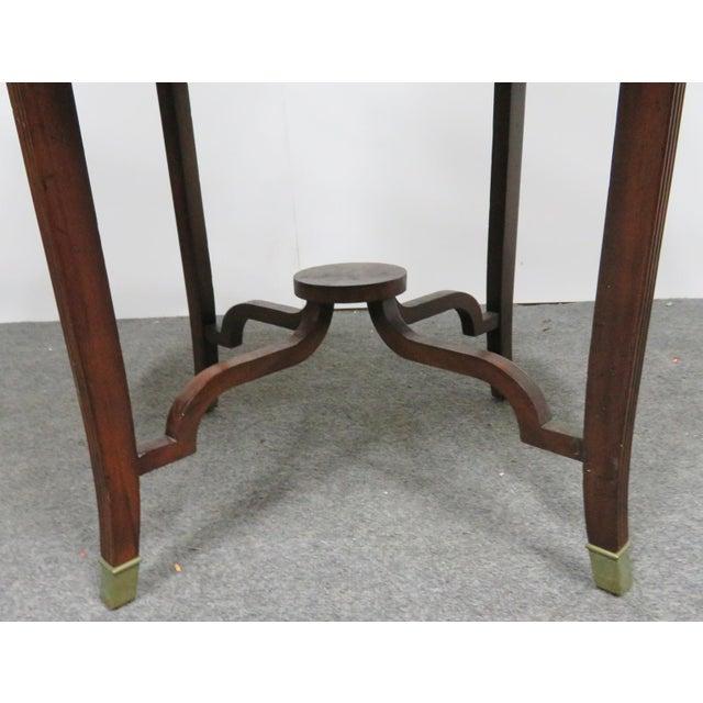 Maitland - Smith Maitland Smith Mahogany Dumbwaiter Serving Table For Sale - Image 4 of 6