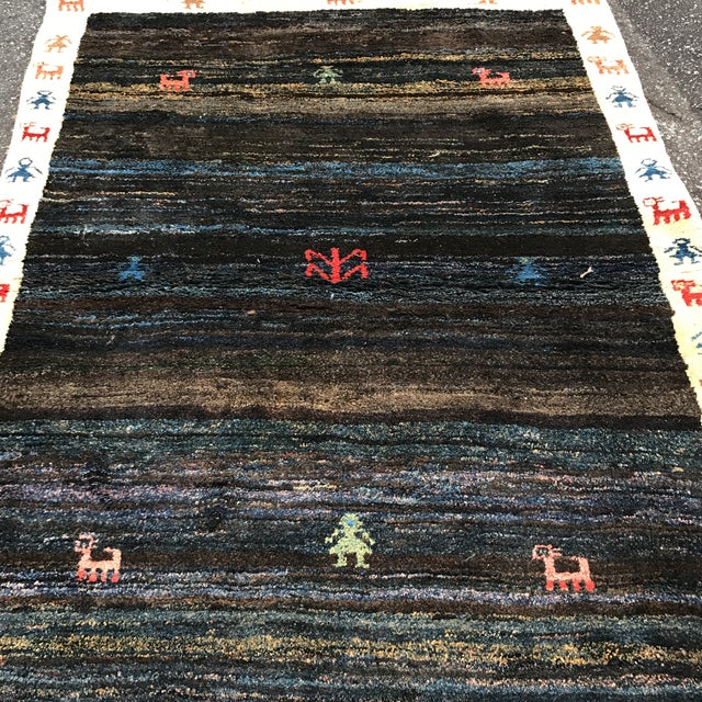 """Vintage Persian Gabe Area Rug- 6'5"""" x 4'7"""" - Image 4 of 11"""