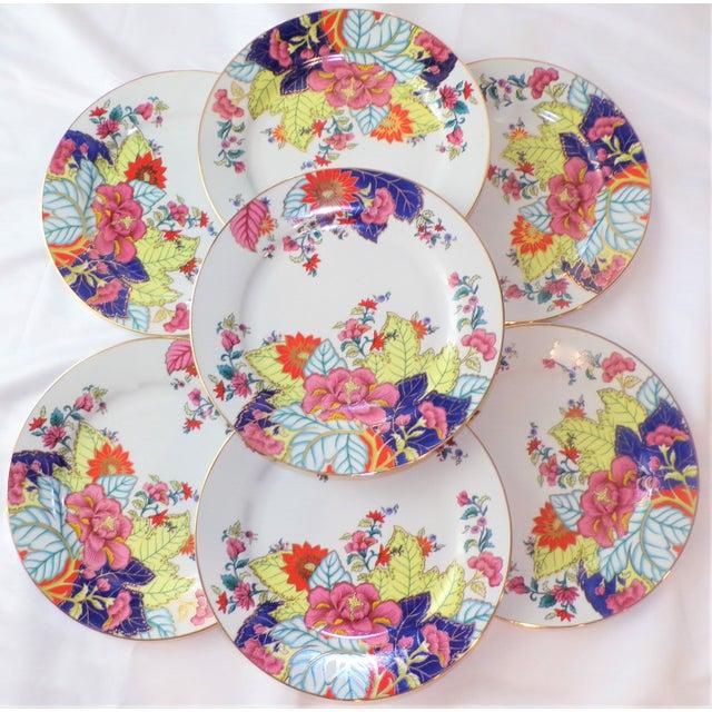 Vintage Tobacco Leaf Porcelain Plates - Set of Seven or Eight For Sale In Houston - Image 6 of 10