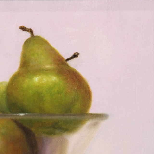 """Realism 21st Century """"Pears in Violet"""" Original Painting by Stuart Dunkel For Sale - Image 3 of 9"""