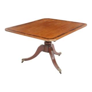 Regency Mahogany Tilt-Top Breakfast Table For Sale