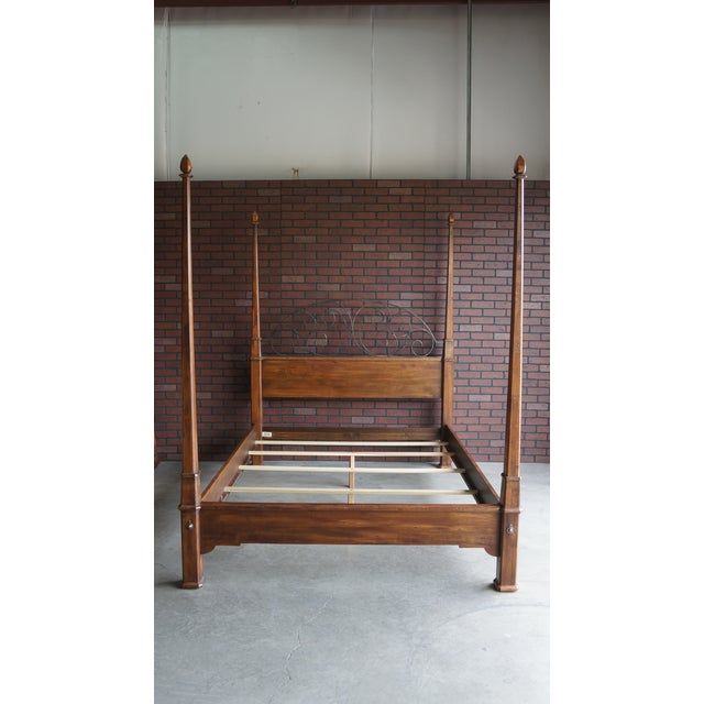 Ethan Allen Old World Treasures Queen 4 Post Bed For Sale - Image 10 of 10