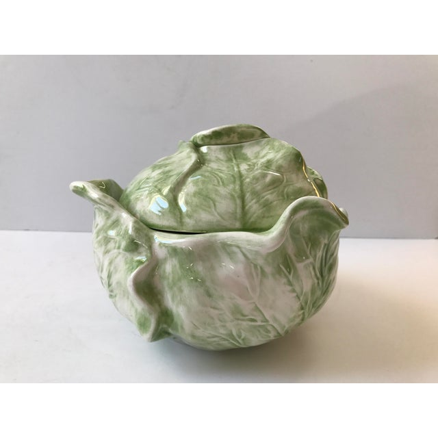 Cabbage Shaped Lidded Soup Bowl For Sale - Image 4 of 10