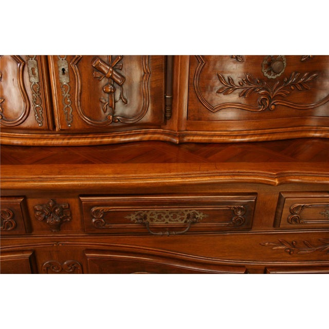 Brown Vintage French Country Walnut Sideboard For Sale - Image 8 of 8
