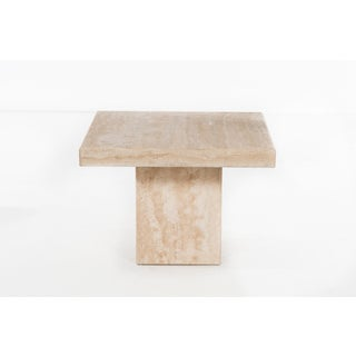 Travertine Marble Side Table Willy Rizzo Style Preview