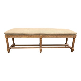 Vintage Louis XVI Giltwood Long Bench For Sale