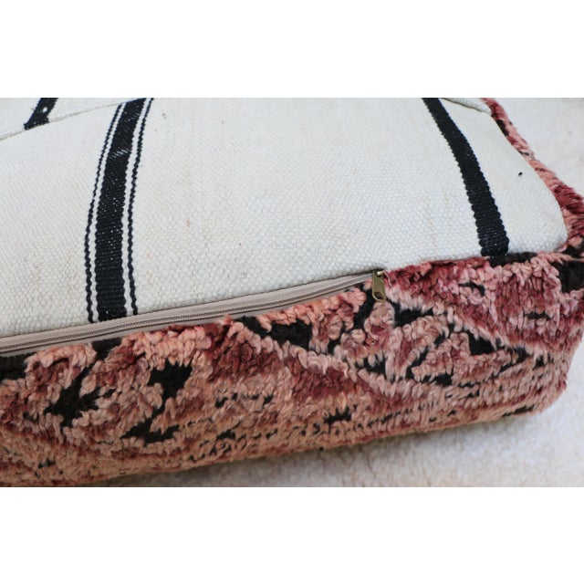 Moroccan Mauve Unstuffed Pouf Cover For Sale - Image 10 of 11