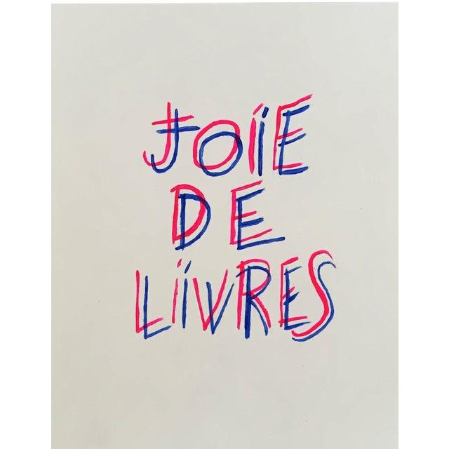"""""""Joie De Livres"""" Modern Print For Sale"""