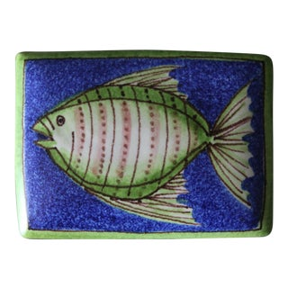 Raymor Italian Ceramic Box, Circa 1965 For Sale
