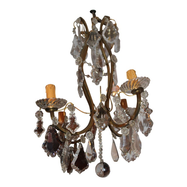 Late 19th century antique baccarat crystal bronze chandelier late 19th century antique baccarat crystal bronze chandelier aloadofball Image collections