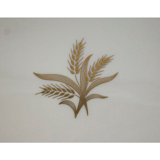 Traditional 1950s Lenox China Wheat Pattern Platter For Sale - Image 3 of 6