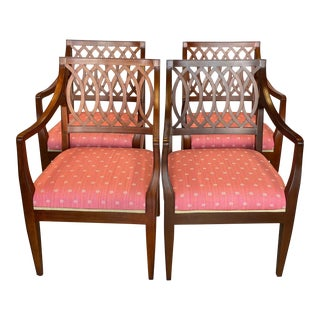 1990s Baker Williamsburg Armchairs - Set of 4 For Sale