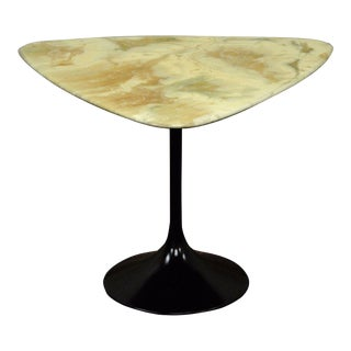 Vintage Mid Century Modern Resin Metal Tulip Base Saarinen Style Side Table B For Sale
