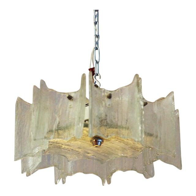 Glass chandelier by JT Kalmar For Sale