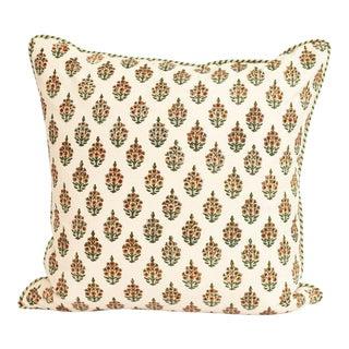 "Woven Liza Block Print Pillow - 20x20"" For Sale"